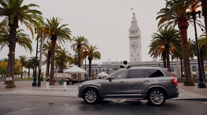 201687 Uber launches self driving pilot in San Francisco with Volvo Cars