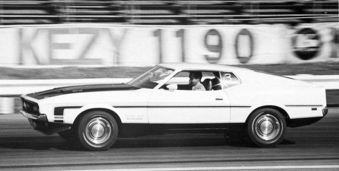 The Boss 351 was a 13-second screamer at the drag strip, making it an able competitor even up against big-block rivals. Photo: Ford Motor Company.