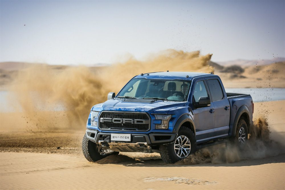 All new Ford F 150 Raptor Desert Running