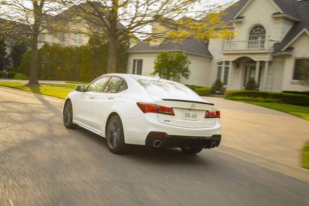 2018 acura tlx arrives with new styling a spec option. Black Bedroom Furniture Sets. Home Design Ideas