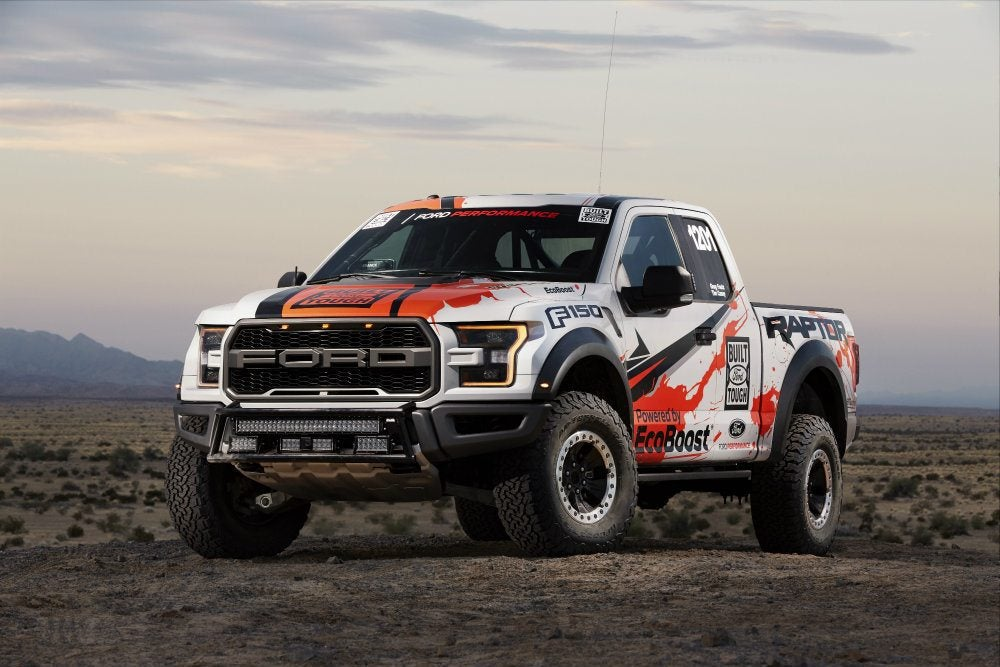 The 2017 Ford F-150 Raptor in the 49th running of the SCORE Baja 1000.