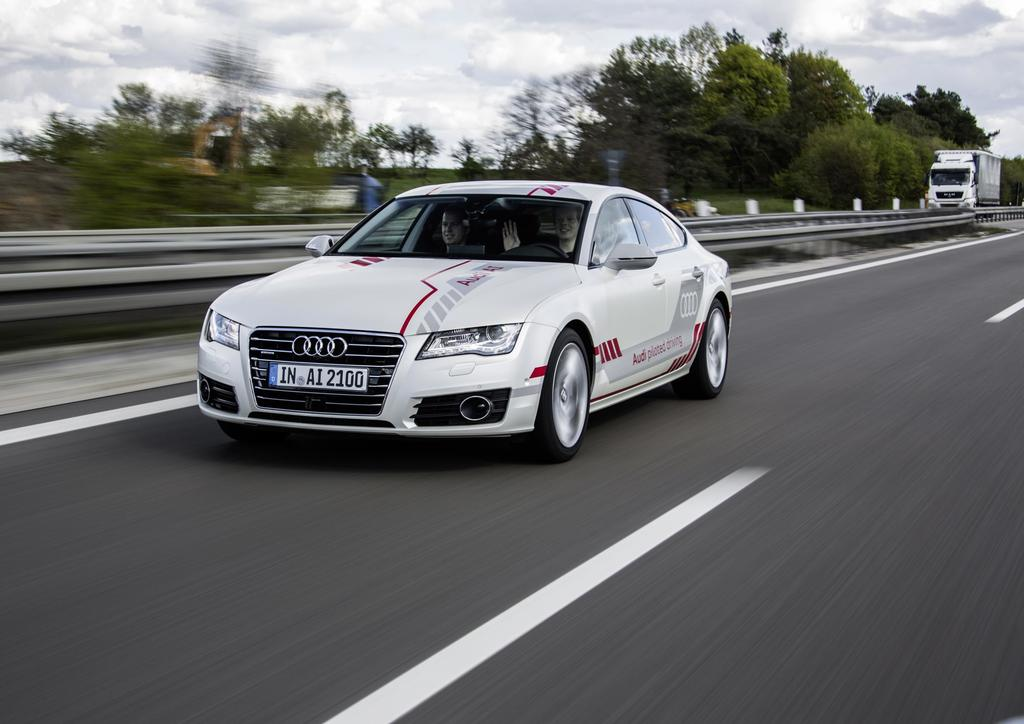 Audi Demonstrates Piloted Driving Technology In New York 16