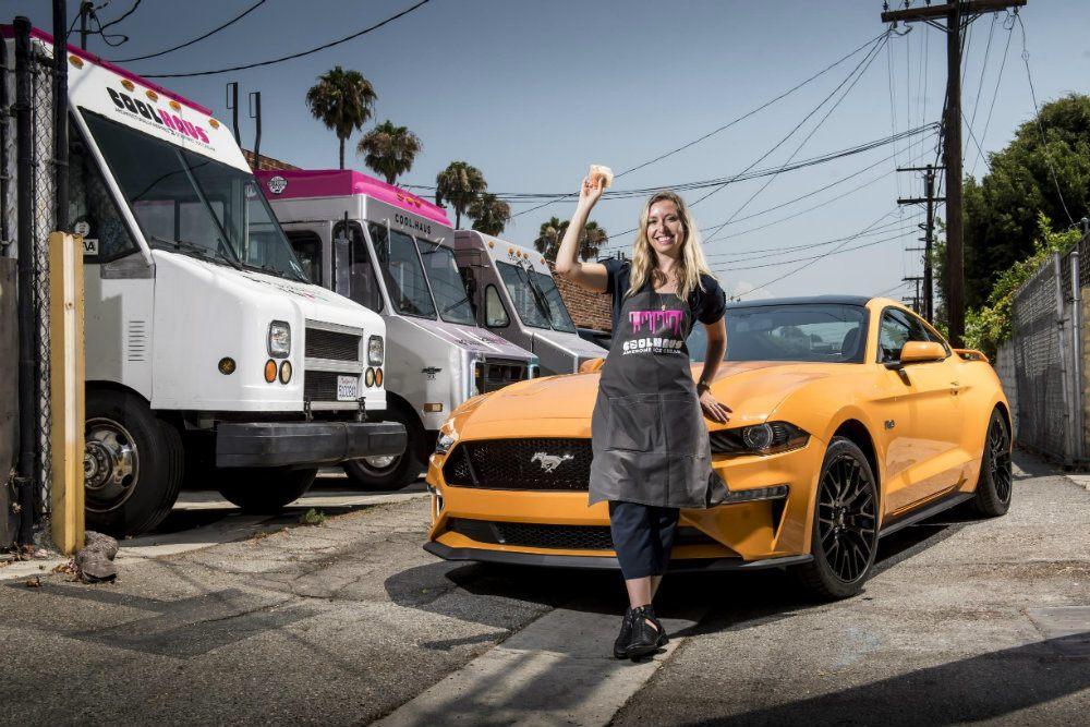 Orange Fury Ford Mustang Inspires Ice Cream Sandwich