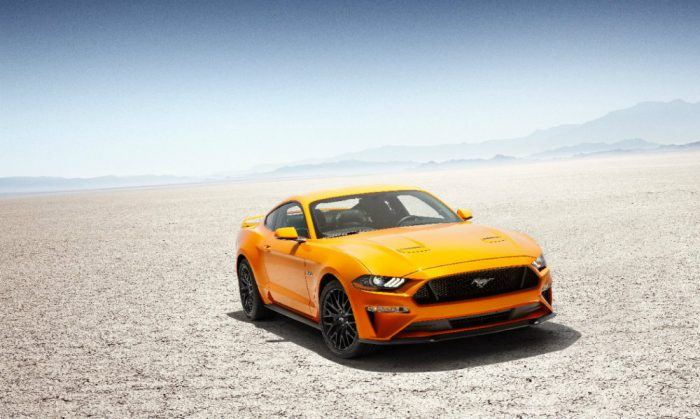 New Ford Mustang V8 GT with Performace Pack in Orange Fury 2