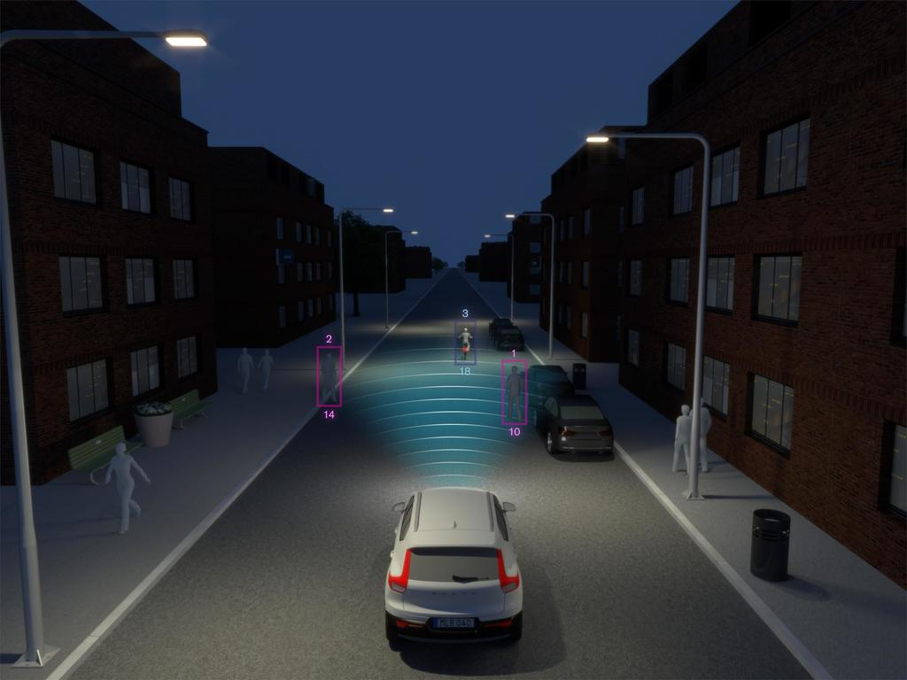 213025 New Volvo XC40 City Safety Darkness