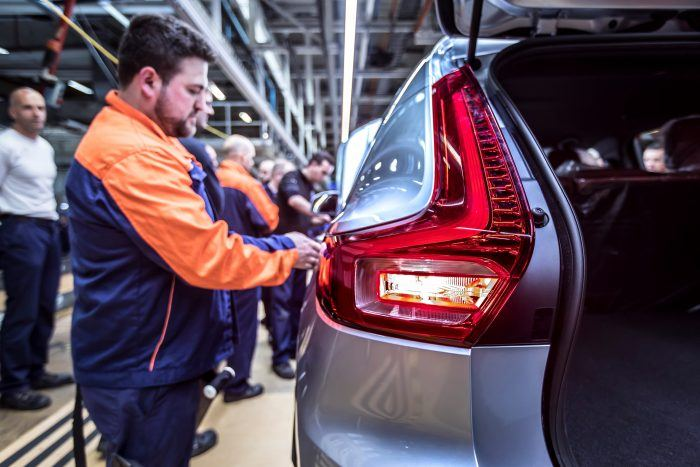 216919 Pre production of the new Volvo XC40 in the manufacturing plant in Ghent