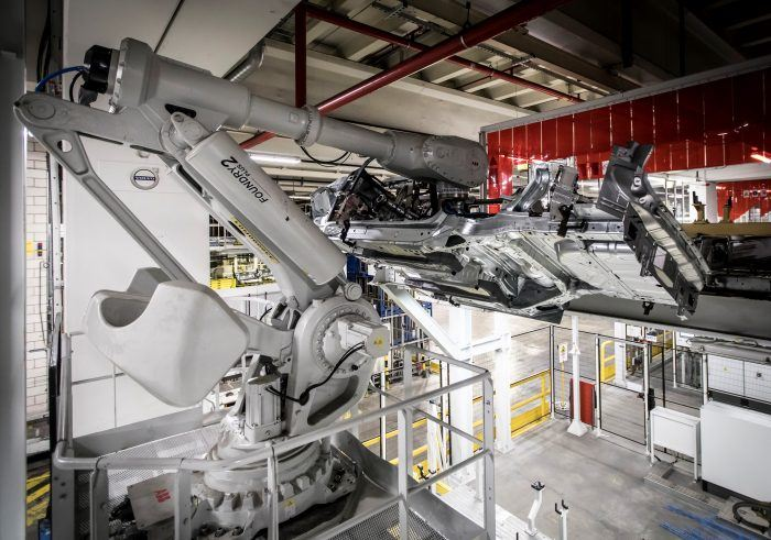 216927 Pre production of the new Volvo XC40 in the manufacturing plant in Ghent