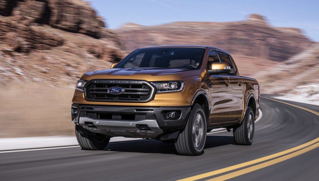 2020 Ford Ranger on the open road.