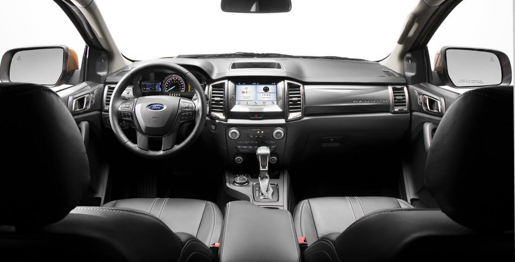2020 Ford Ranger interior layout.