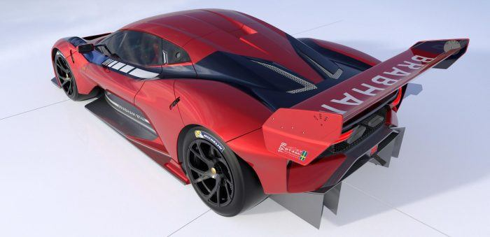 BRABHAM BT62 Rear Qtr Red