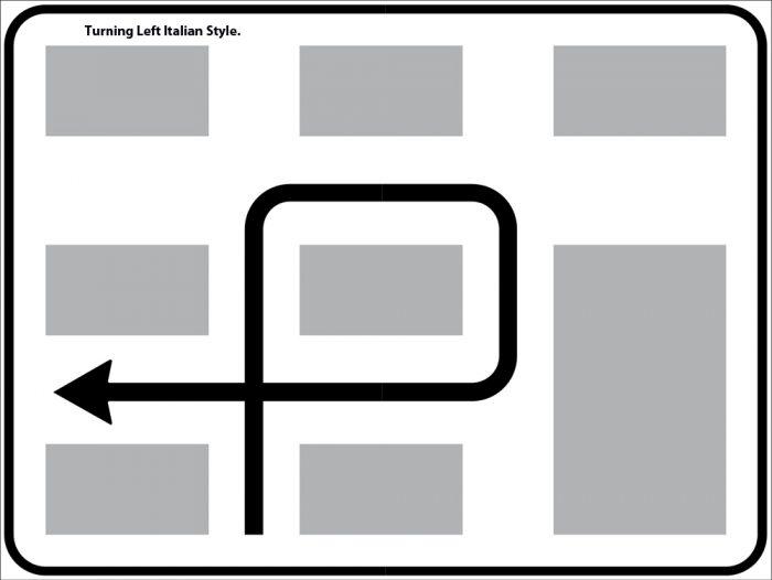 Italian left turn