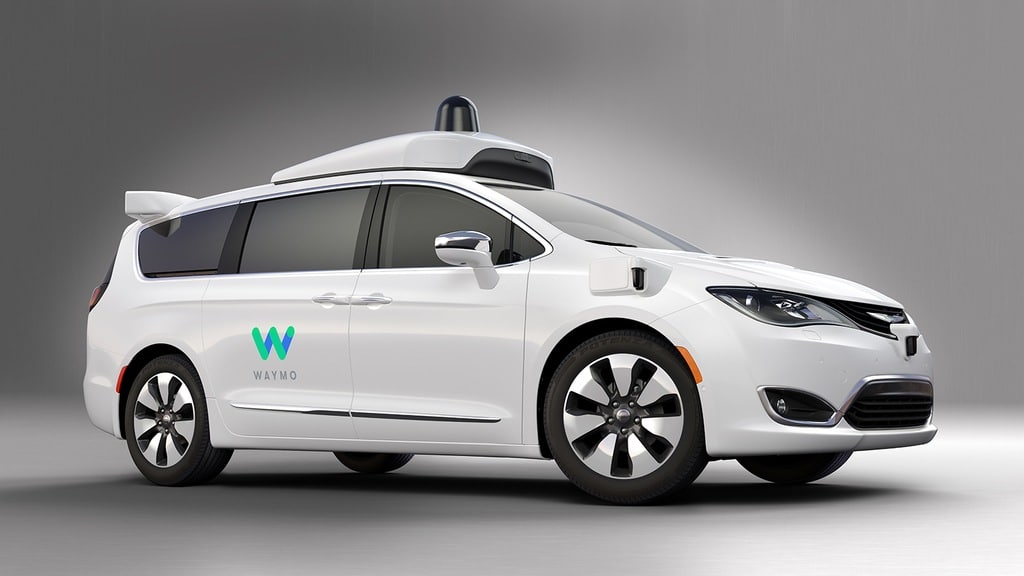 Waymo FCA Fully Self Driving Chrysler Pacifica Hybrid