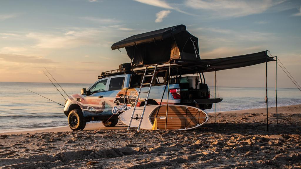 Nissan TitanSurfcamp Flexes Beach Bod, Towel Snaps Competition