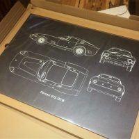 Displate Ferrari in box 200x200 - Displate Metal Prints Review: Cars, Movies, 80s Retro & More.