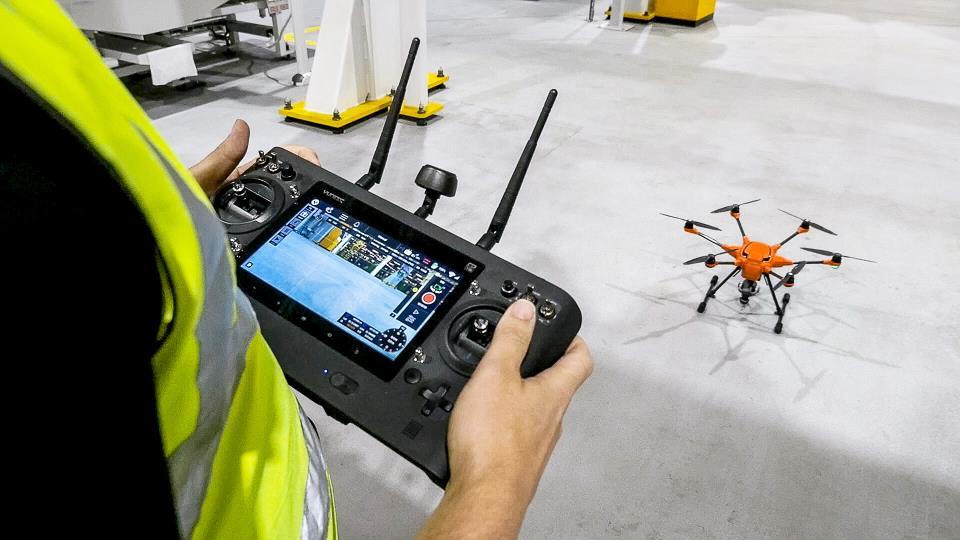 Small Drones Keep Large Auto Manufacturing Plant Safe