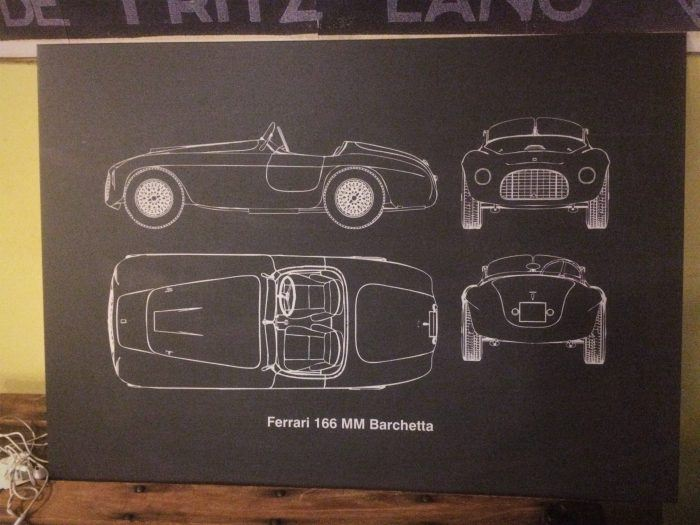 Ferrari 166 MM Displate