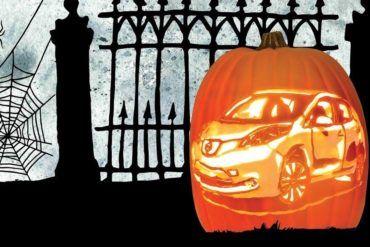 Nissan Leaf Pumpkin Carving e1539378270125