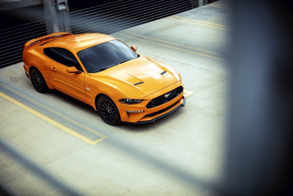 Orange Fury Mustang GT Coupe with Performance Pack 1