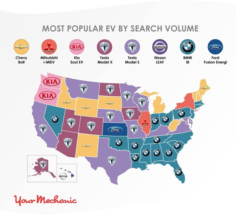 YM ElectricCar map