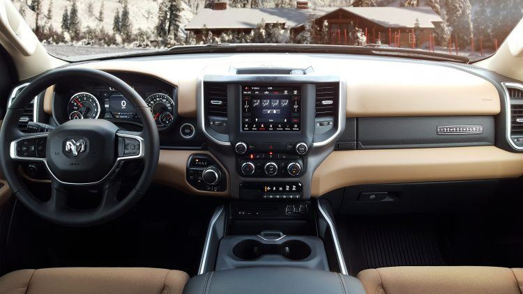2019 RAM 1500 North Edition Black and Light Mountain Interior