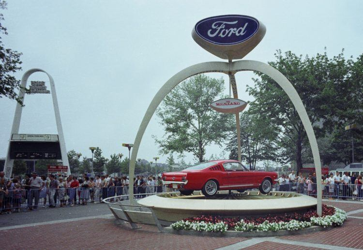 1964 Worlds Fair Ford Exhibit 1965 Mustang neg CN3430 805