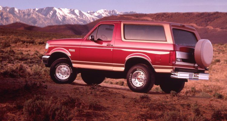 1994 Ford Bronco Eddie Bauer 750x400 - Does Your Favorite Football Team Have A Matching Vehicle?
