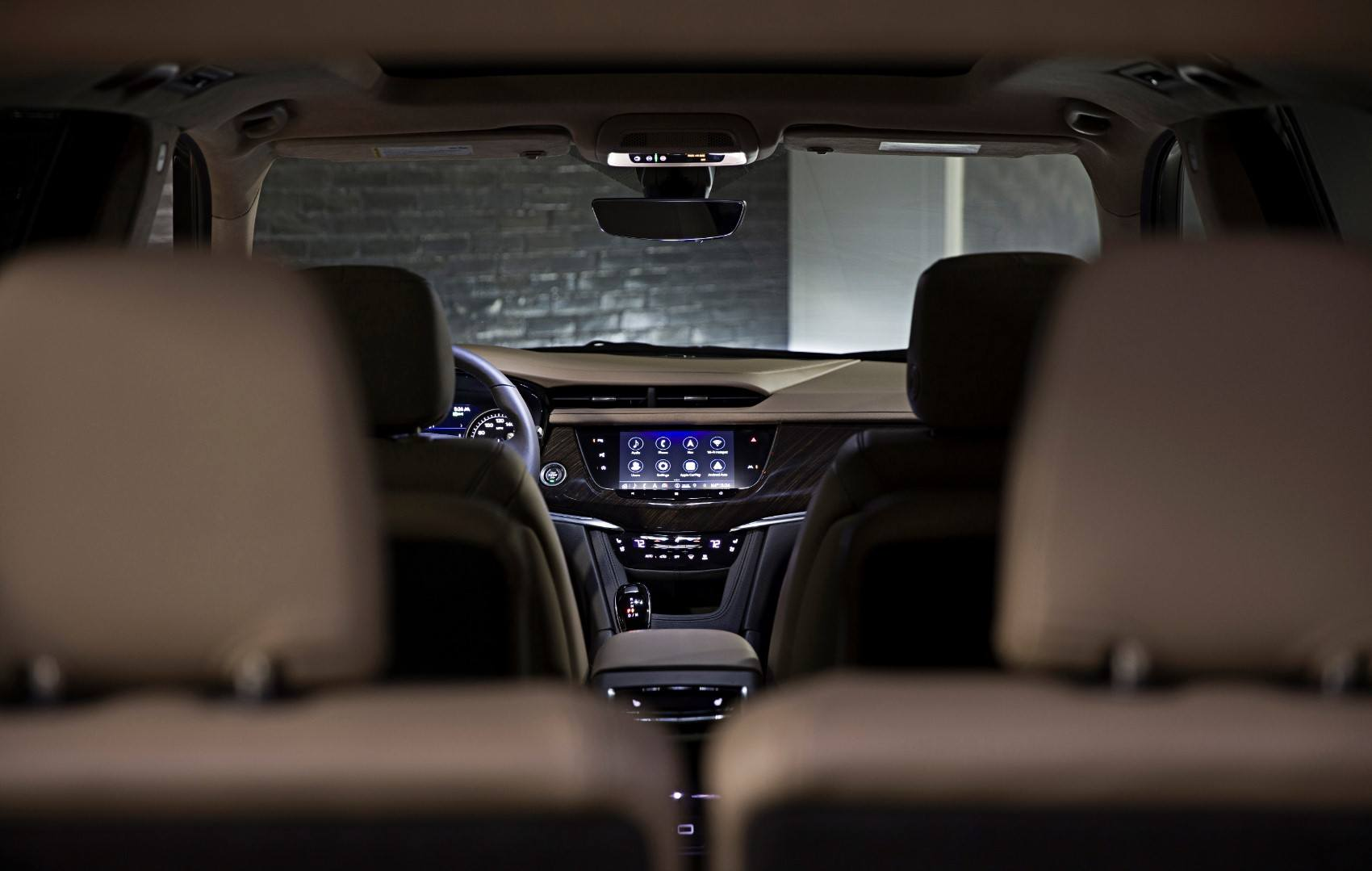 2020 Cadillac XT6, Premium Luxury interior layout.