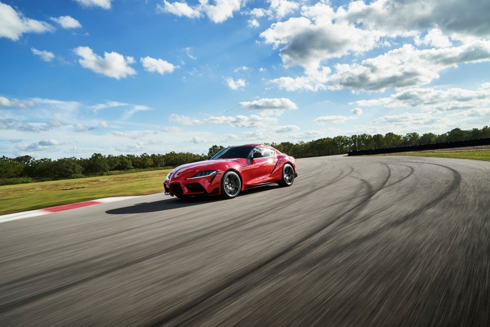 2020 Toyota GR Supra on the track.