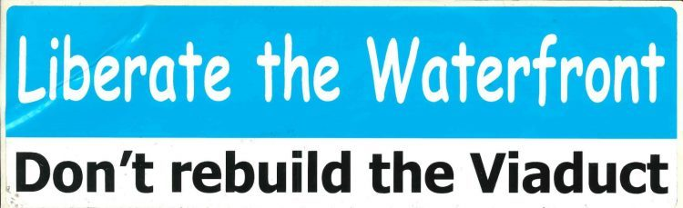 Anti viaduct bumper sticker circa 2006