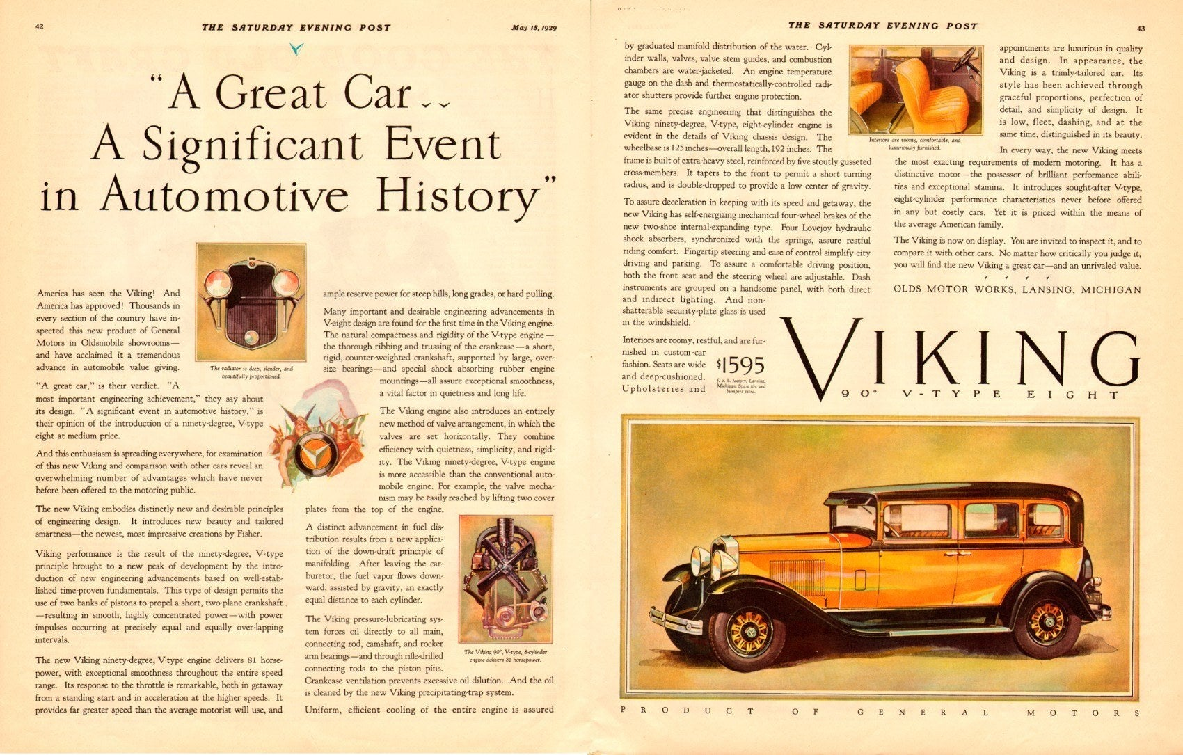 Oldsmobile Viking Advertisement