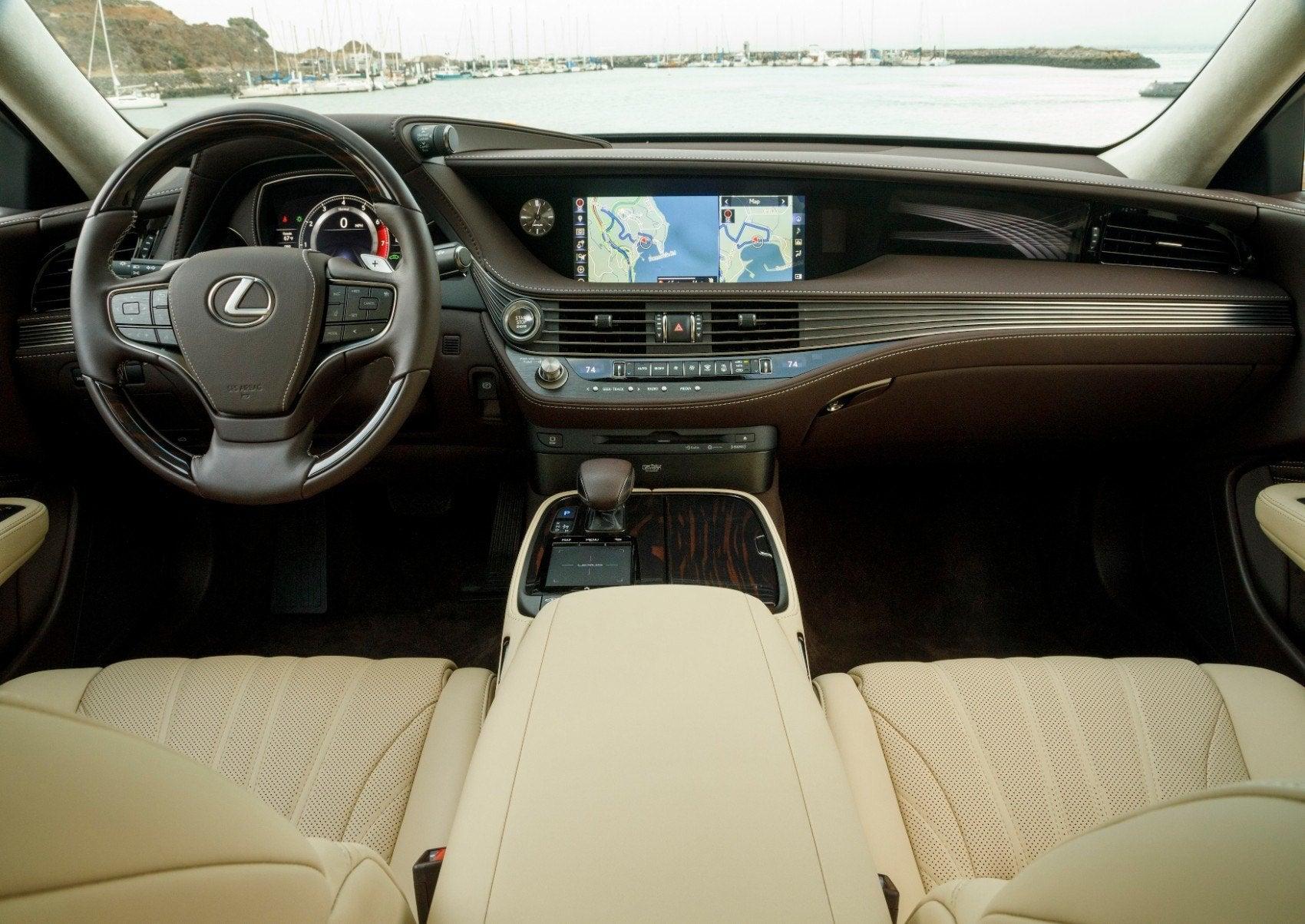 2020 Lexus LS 500 interior layout.