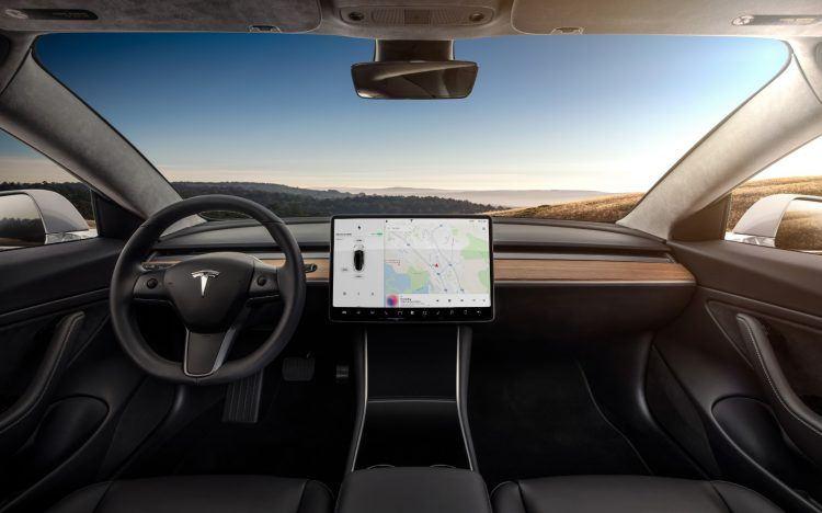 Model 3 Interior Dashboard Head On