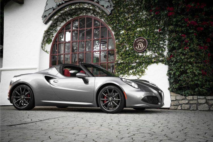 Alfa Romeo 4C Spider Silver