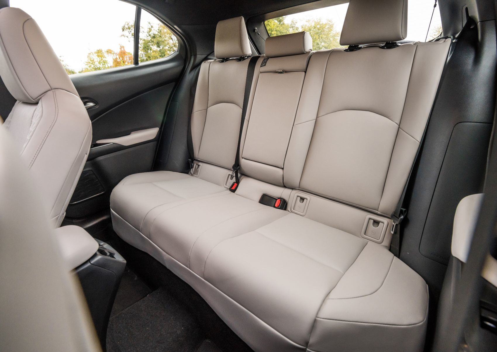 Lexus UX rear seat layout.