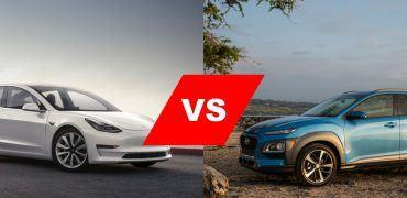 Tesla Model 3 vs. Hyundai Kona Electric 370x180 - Virtual Showdown: Tesla Model 3 Versus Hyundai Kona Electric