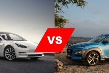 Tesla Model 3 vs. Hyundai Kona Electric