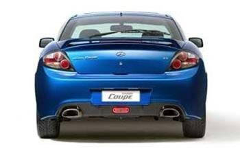 2007 Hyundai Tiburon rear
