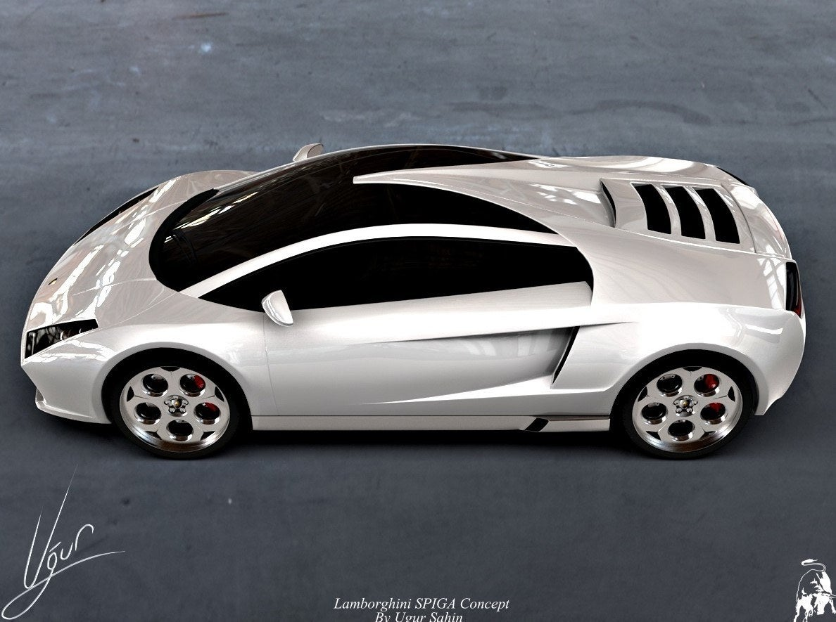 Lamborghini Spiga Concept white side