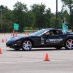 Black Corvette Autocrossing