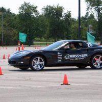 Black Corvette Autocrossing