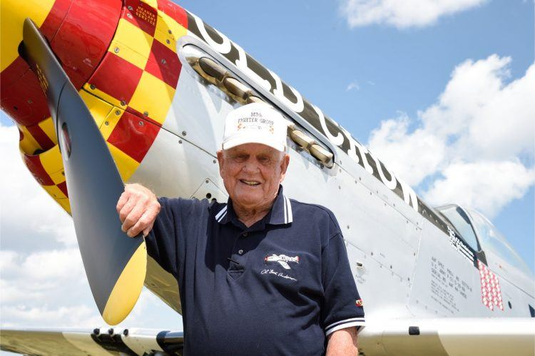 Bud Anderson a P 51 Mustang
