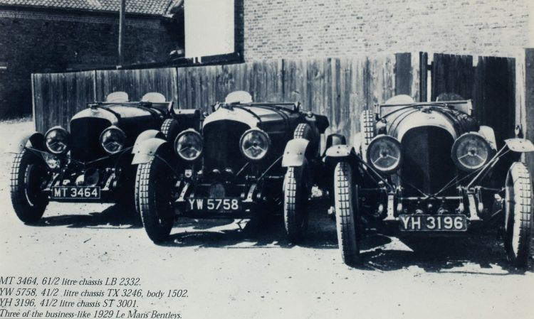 1929 'Three Business Like Le Mans Bentleys'