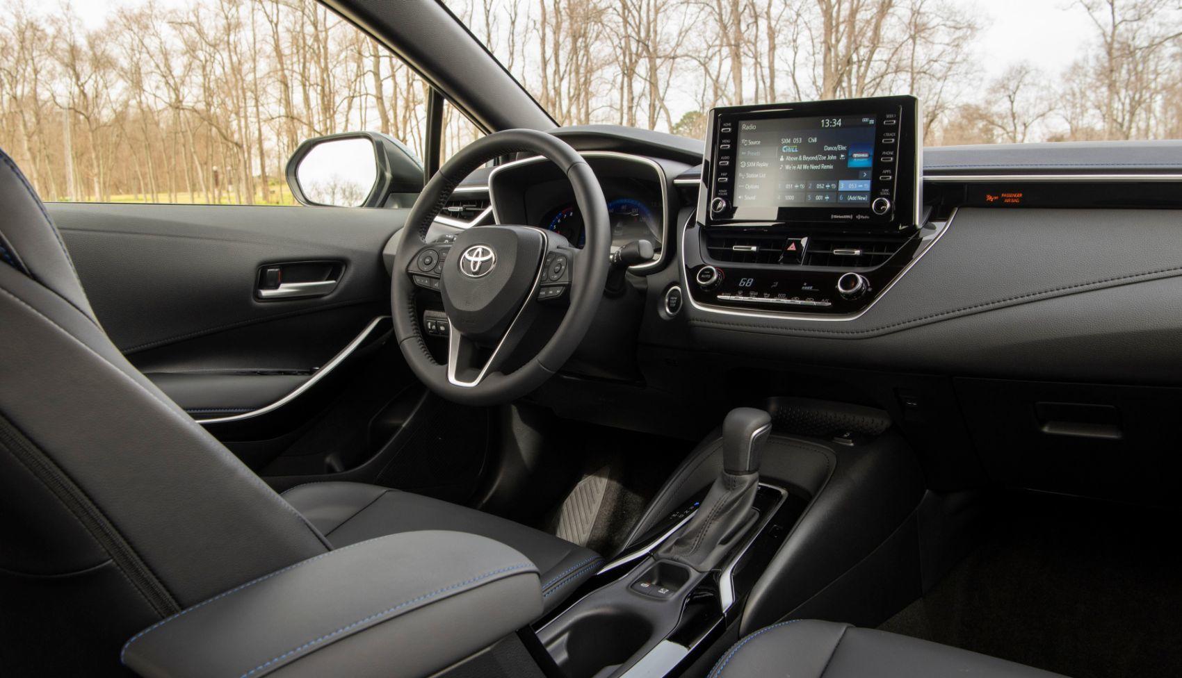 2021 Toyota Corolla XSE interior layout.