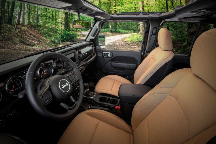 2020 Jeep Wrangler Black Tan Edition Interior
