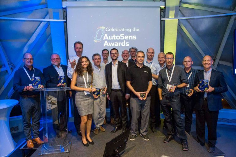 AutoSens Award Winners Brussels 2018
