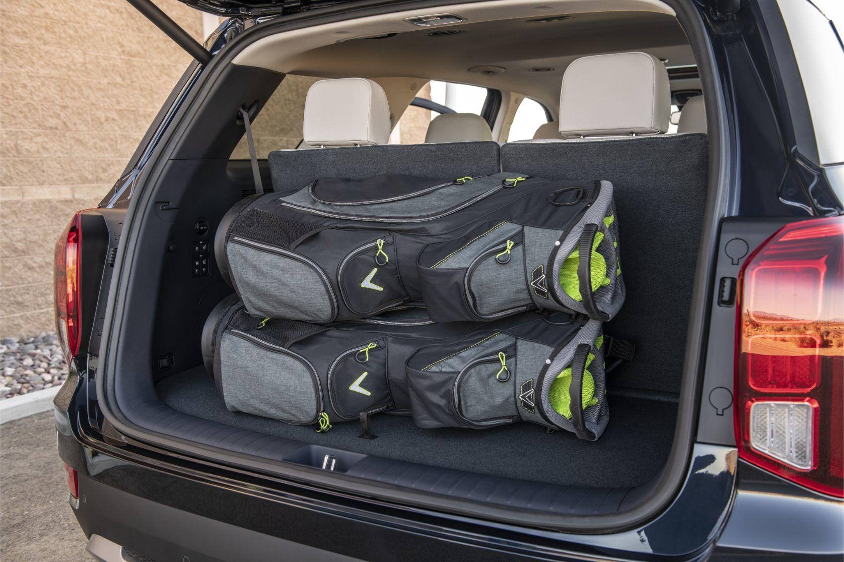 2020 Hyundai Palisade rear cargo area.