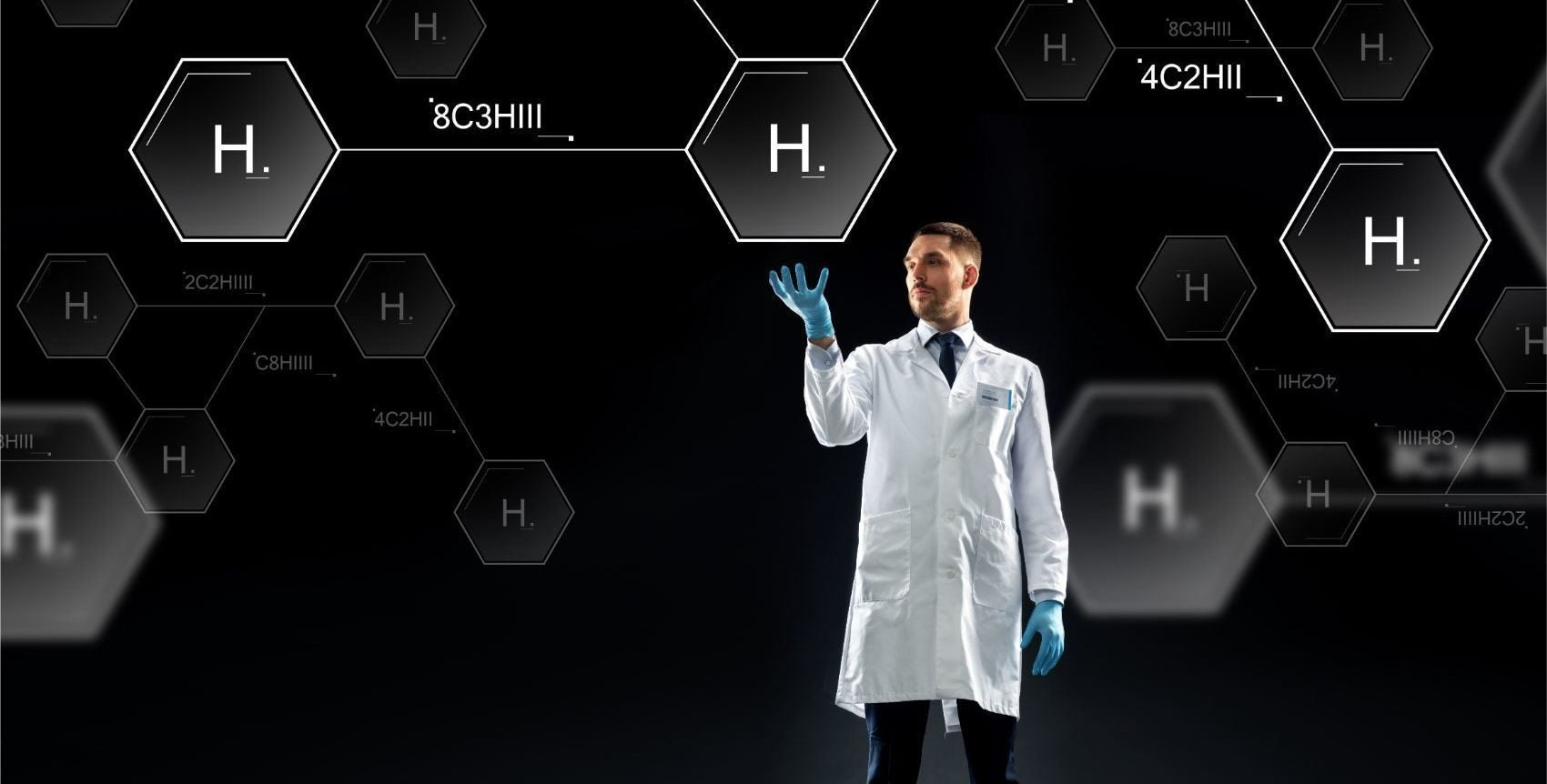 scientist with virtual chemical formula PQ2GYJP e1570642844514