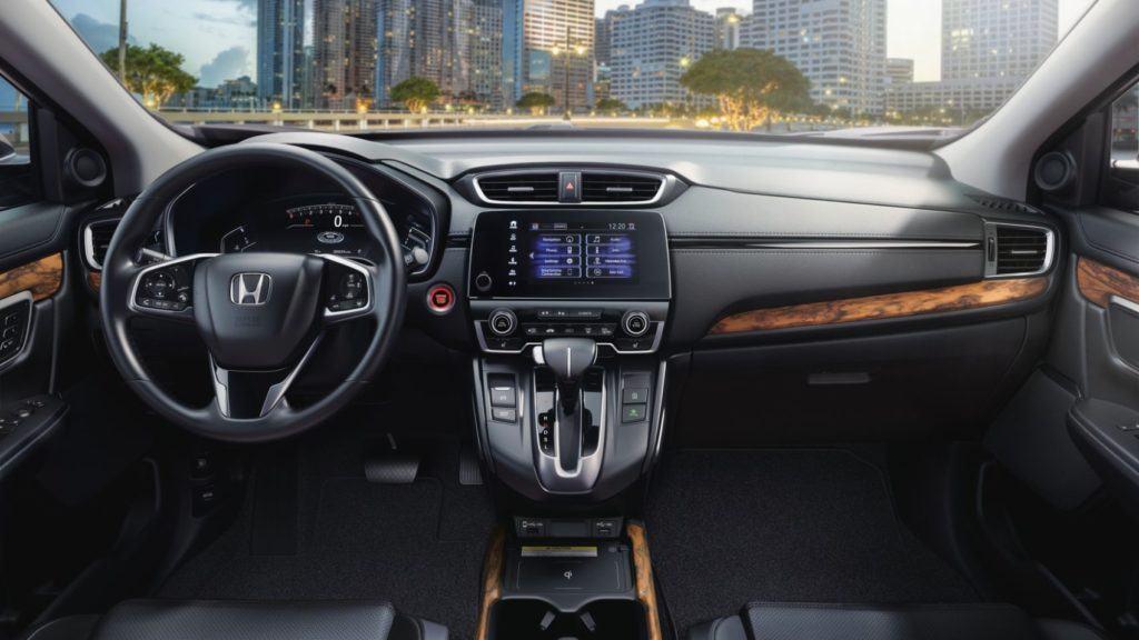 2020 Honda CR-V Touring interior layout.