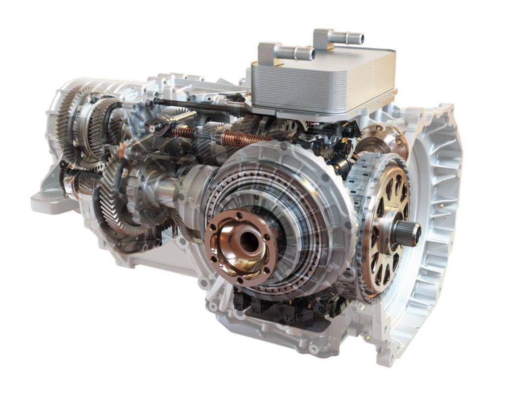 2020 Chevy Corvette Stingray transmission cutaway.