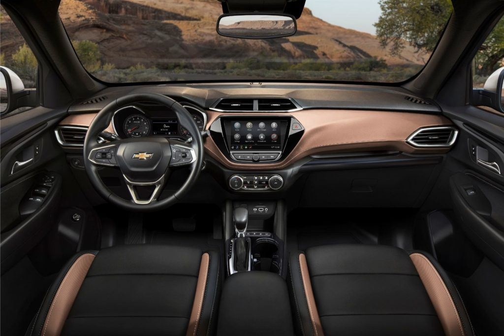 2021 Chevy Trailblazer ACTIV interior layout.